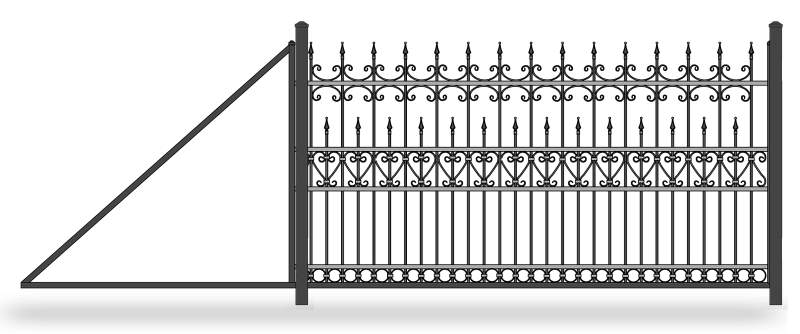 Эскиз откатных кованых ворот