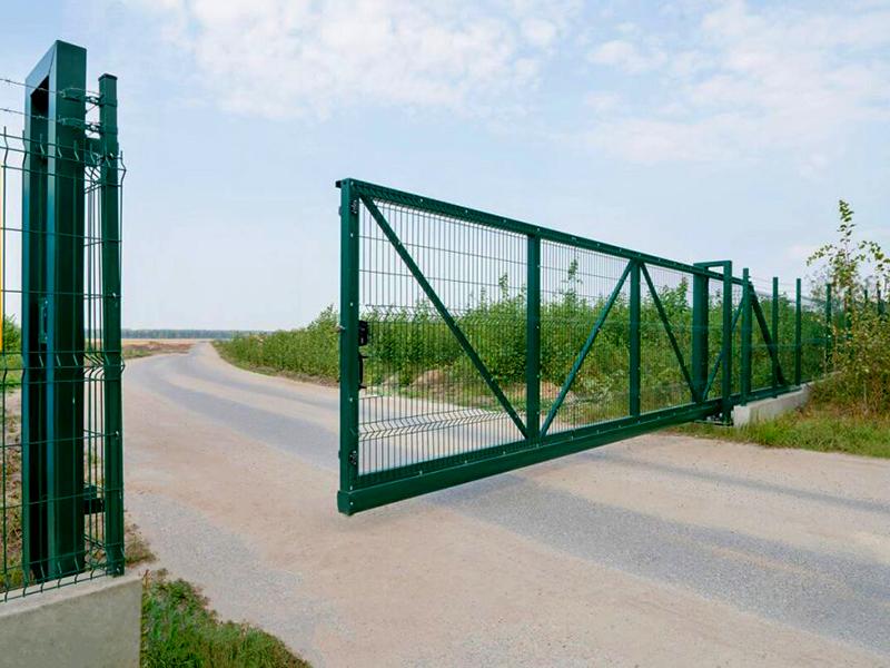 откатные ворота с 3д сеткой
